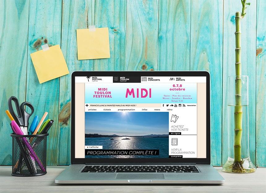 MIDI Festival - Site web